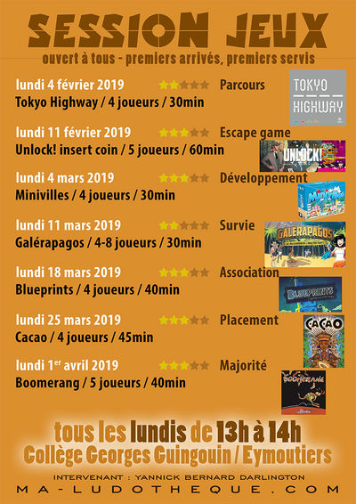 affiche session jeux 2019 2